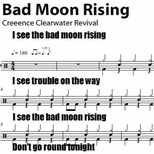 bad-moon-rising-drum-sheet-music-1