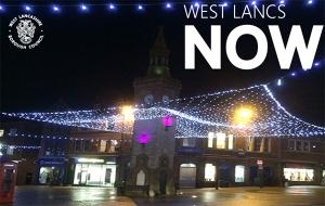 DEC 2016 Christmas lights Ormskirk Clock tower2